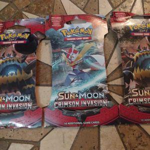 Brand New Pokemon Sun And Moon Crimson Invasion Booster Packs $5 Each for Sale in Orlando, FL