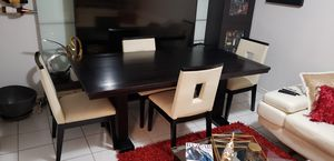 Dining Room Table w/4 Chairs from El Dorado (Pre-Owned) for Sale in Miami, FL