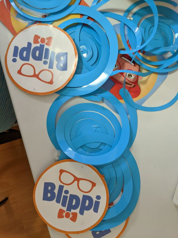 Blippi decoration for birthday party