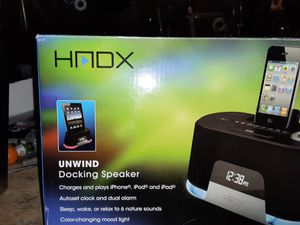 HADX AUDIO DOCKING SPEAKER FOR ipad,ipod,& iphone for Sale in Phoenix, AZ