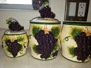 Grape kitchen canister set for Sale in Phoenix, AZ
