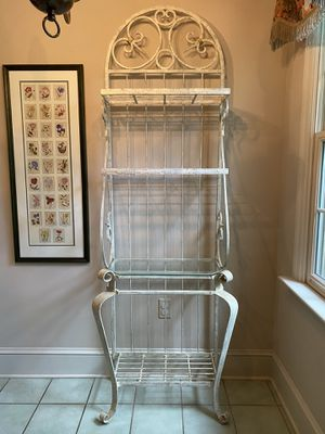 French Country Wrought Iron Bakers Rack for Sale in Lancaster, PA