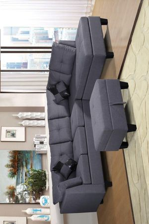 Mio Sectional Sofa with Ottoman Gray S507 VENDOR NEW ERA for Sale in Houston, TX