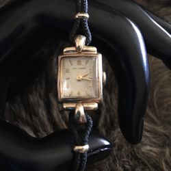 Antique 40s Cowell & Hubbard 10k gold corded watch for Sale in Henderson,  NV
