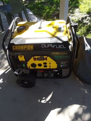 Champion dual fuel generator for Sale in San Diego, CA