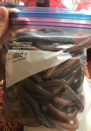 Bass fishing worms for Sale in Moreno Valley, CA