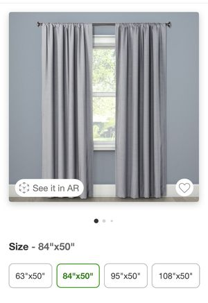 Grey Blackout Curtains set of 2 panels for Sale in Virginia Beach, VA