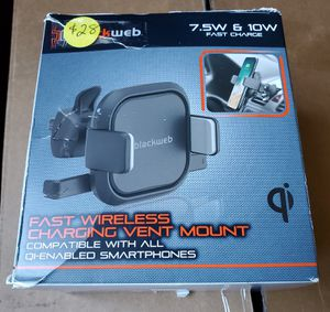 New fast wireless charging vent mount for Sale in Riverside, CA