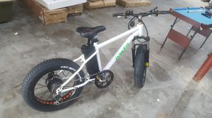 Nakto NAK- DSYB 20 in. Discovery Fat Tire Electric Bicycle, Black for Sale in Meadows Place, TX