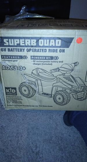Kids motorz superb quad ride on vehicle. for Sale in Arlington, TX