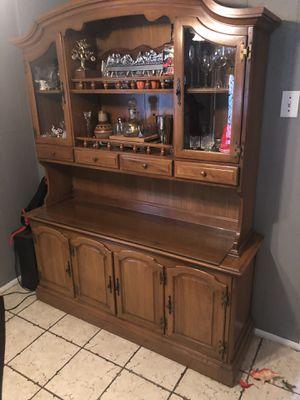 Sturdy, antique china cabinet for Sale in Dallas, TX