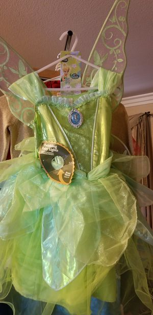 Brand new with tags disney light up tinkerbell 5 6 costume set with wings for Sale in Chula Vista, CA