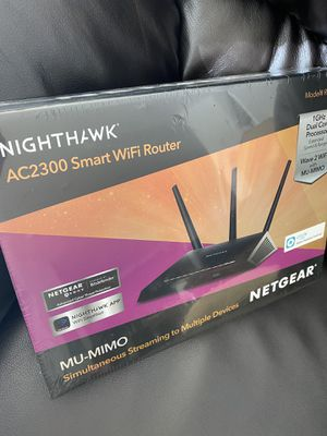 BRAND NEW NEVER UNWRAPPED NETGEAR NIGHTHAWK AC2300 SMART WIFI ROUTER for Sale in Englewood, NJ