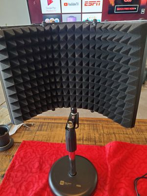 Tabletop Microphone Stand with Sound Isolation Shield for Sale in Charlottesville, VA