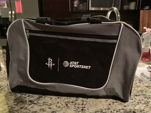 Brand New Rare Houston Rockets Charity Duffle Workout Bag for Sale in Bellaire, TX
