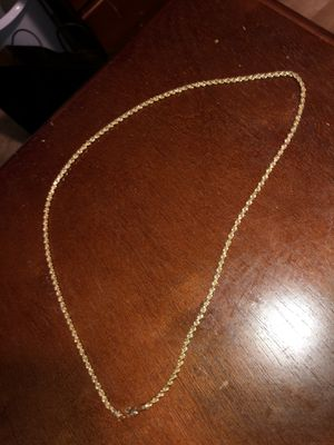 10k 2mm Gold rope chain for Sale in Hayward, CA
