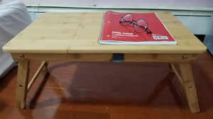 Laptop desk or Breakfast table, adjustable height ,Tiltable to elevation, Foldable, 100% Bamboo with a drawer for Sale in Jersey City, NJ