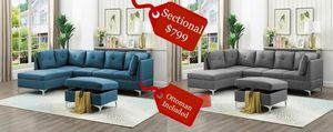 big sale!!!sectional grey or blue w/ottoman included for Sale in Miami, FL