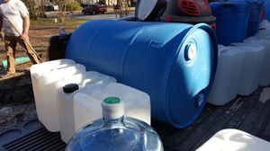 5 gallon jugs and 55 gallon drum only had water in them im in durham make good cash offer for Sale in Durham, NC