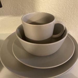 Grey Ikea Dinnerware set (6 Piece) for Sale in Anaheim, CA
