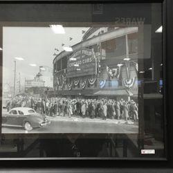 Vintage Photo Of Wrigley Field In Frame for Sale in Keller,  TX
