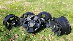 "18"" KMC Rockstar wheels, set of 5 off Jeep Wrangler for Sale in Manassas, VA"