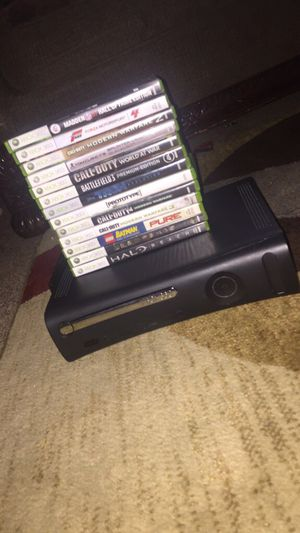 Used, Black xbox 360 with 13 games. for Sale for sale  Marietta, GA