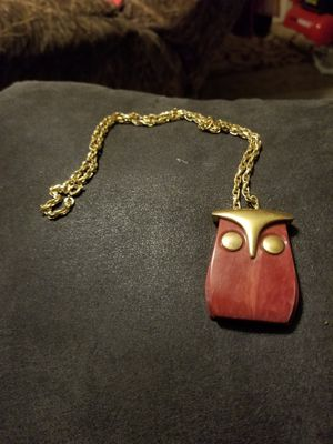 Vintage brass and wooden charm with chain for Sale in Cayce, SC