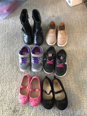 Baby girl shoe lot size 6 and 7 for Sale in Portland, OR