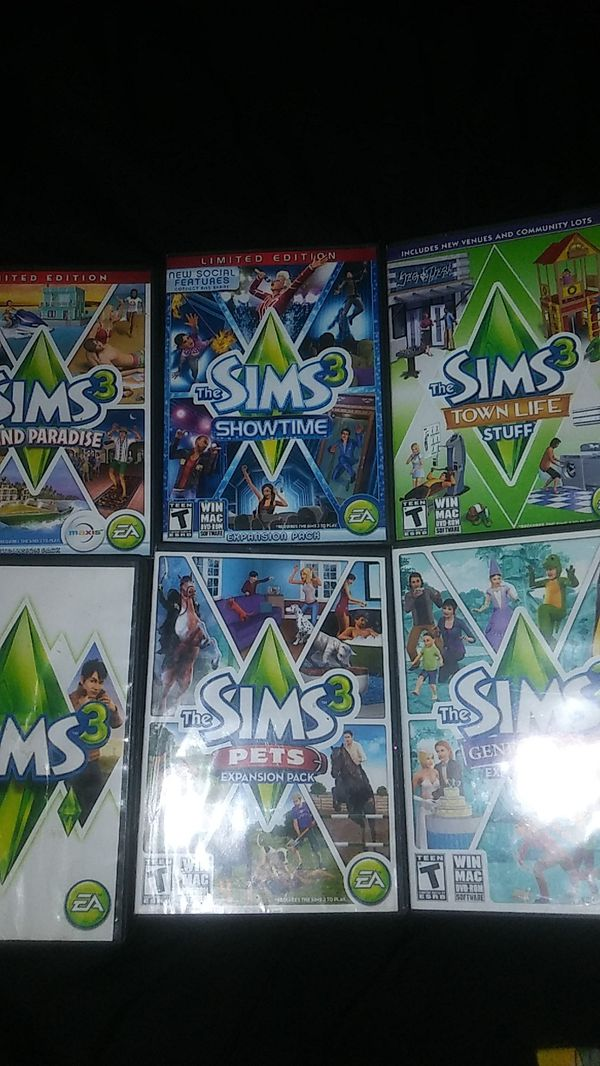 Sims 3 for PC set of 7