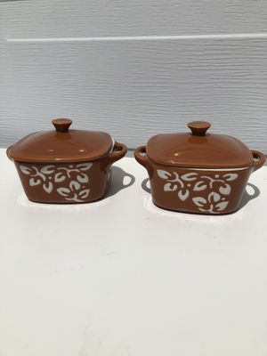 Pair of mini casserole dishes bakeware ceramic for Sale in San Mateo, CA