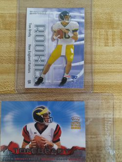 Tom Brady Rookie Card 🐐💎🧊 🔥 2 Tom Brady Rookie Cards $1000 Pick Up Will Ship Through Cash App Or Pay Pal SERIOUS BUYERS ONLY!!! for Sale in Pomona,  CA