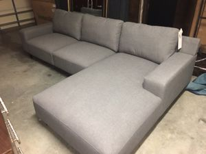 Brand new Simply Living 2pc Durafabric Gray Chaise Sofa for Sale in Willow Spring, NC