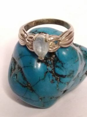 Size 9 Sterling silver semi precious stones ring for Sale in Willow Street, PA