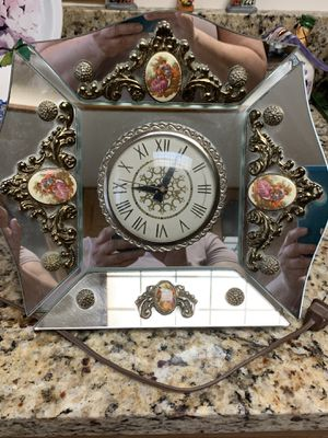 Antique Perfume Vanity Set with Electric Clock for Sale in Miami, FL