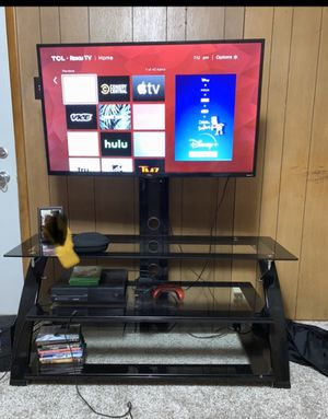 Stand, 43' Roku HDR 1260 p LED TV and 1TB Xbox One.. for Sale in Terre Haute, IN