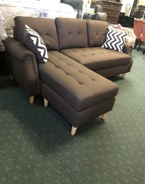 Brand New Light Coffee Linen Sectional Sofa Couch for Sale in Silver Spring, MD