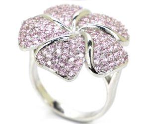 Sterling Silver.925 Pink Kunzite Flower Ring for Sale in Santee, CA