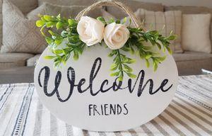 Welcome Friends mini sign for Sale in Colton, CA