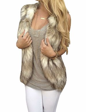 Women Sleeveless Front Open Coat Warm Faux Fur Vests Outwear $25 OBO for Sale in Sumner, WA
