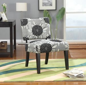 Floral Pattern! Upholstered Accent Chair! Grey And Black! for Sale in Sacramento, CA