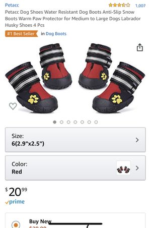 Dog shoes for Sale in Bloomington, IL