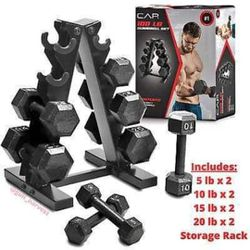 Cap 100lbs Dumbbell Set With Rack for Sale in Roselle, IL