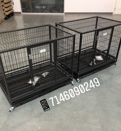 """Dog Pet Cage Kennel Size 37"""" Medium Set Of 2 New In Box 📦 for Sale in Chino,  CA"""