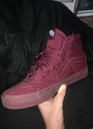 Burgundy Vans size 10 in good condition for Sale in West Palm Beach, FL