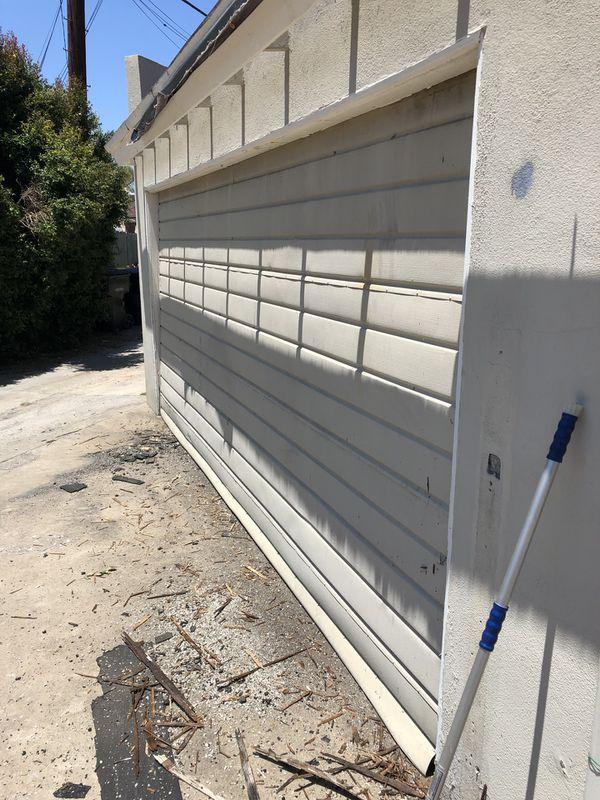 Garage door with a motor