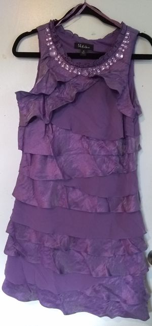S.L. Fashions Purple Tiered Ruffled Dress for Sale in Washington, DC