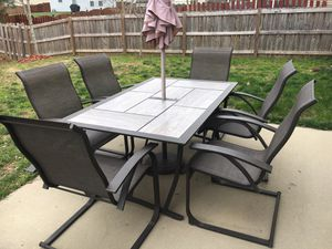 Patio set with 6 chairs for Sale in Knightdale, NC