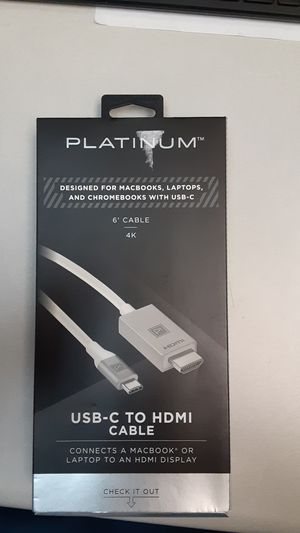 Platinum USB-C to HDMI cable. for Sale in Laurel, MD