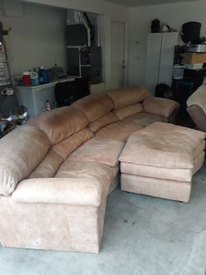 Sectional couch with ottoman for Sale in Tracy, CA
